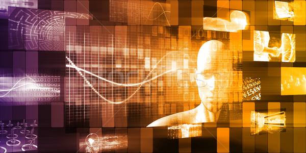 Tecnologia evoluzione in giro mondo avvio abstract Foto d'archivio © kentoh