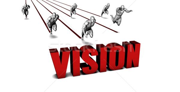 Besser Vision Business-Team racing Geschäftsmann läuft Stock foto © kentoh