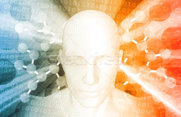 DNA medycznych atomowy streszczenie tle nauki Zdjęcia stock © kentoh