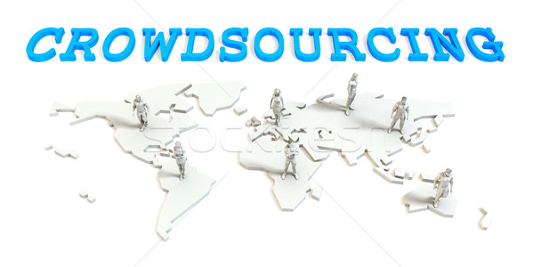 Crowdsourcing Global Business Stock photo © kentoh