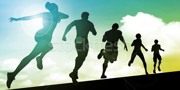 コーチング 科学 スポーツ 管理 女性 スポーツ ストックフォト © kentoh