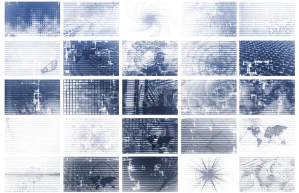 Media overbelasten tech abstract business Stockfoto © kentoh