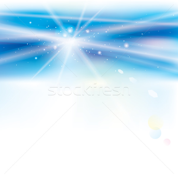 Abstract virtueel Blauw licht zon Stockfoto © keofresh