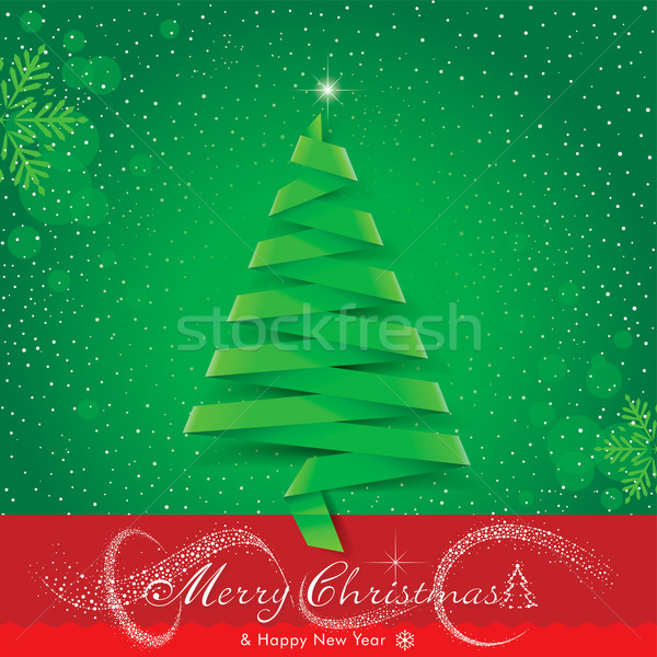 Christmas lint origami kerstboom ontwerp boom Stockfoto © keofresh