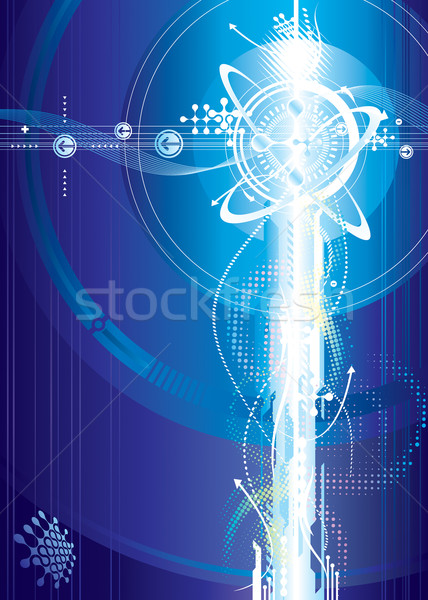 Futuristische voltage vector downloaden eps ontwerp Stockfoto © keofresh