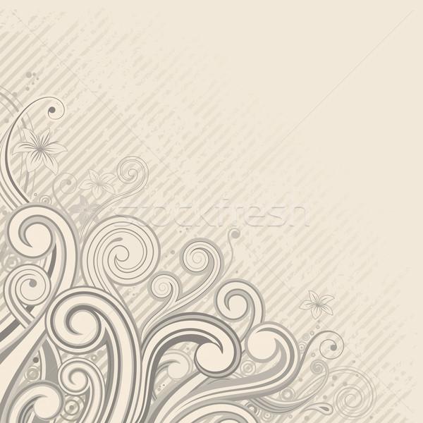 コーナー 飾り 装飾的な フローラル 花 葉 ストックフォト © keofresh