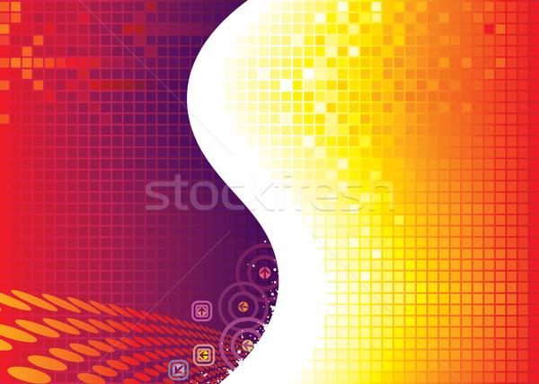 Rouge pixel technologie vecteur téléchargement eps Photo stock © keofresh