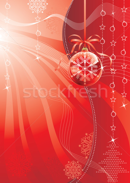 Rood christmas kleur ontwerp vector downloaden Stockfoto © keofresh