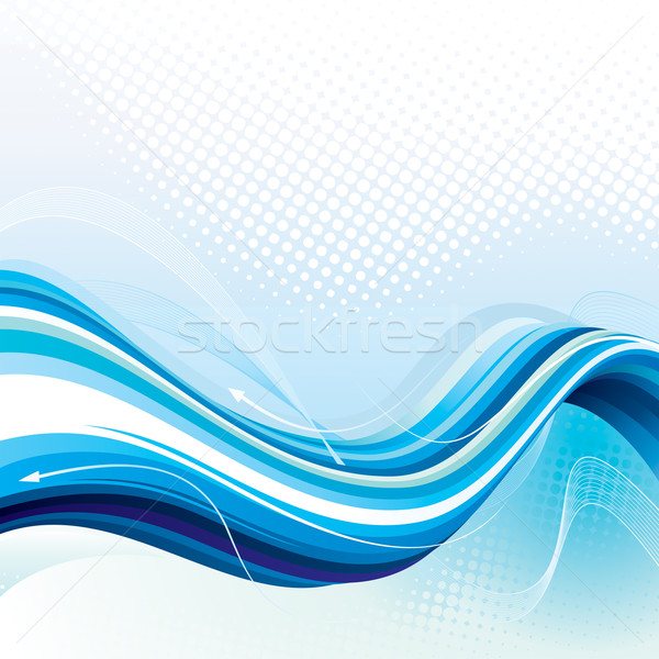 Digitale stream abstract technologie kunst Blauw Stockfoto © keofresh
