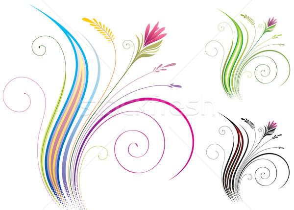 Floral design vecteur téléchargement eps Photo stock © keofresh