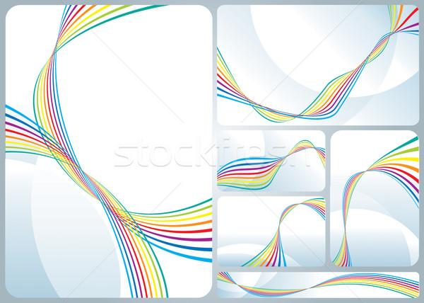 Rainbow entreprise identité modèle design Photo stock © keofresh