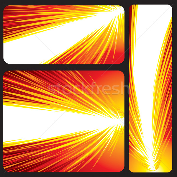 Stock photo: Red Glowing Banner