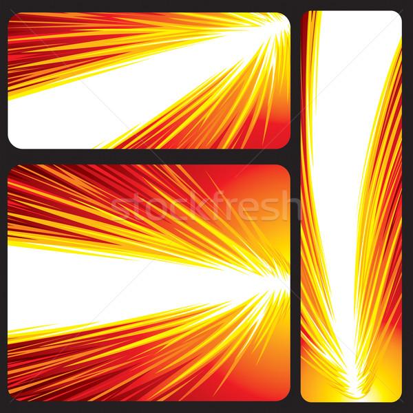 Vermelho bandeira energia fireball vetor Foto stock © keofresh