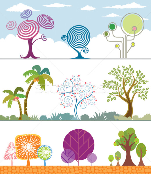 Trees Collection Stock photo © keofresh