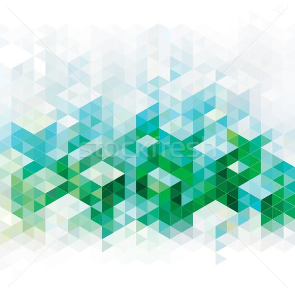 Résumé vert horizons géométrique urbaine bâtiment Photo stock © keofresh