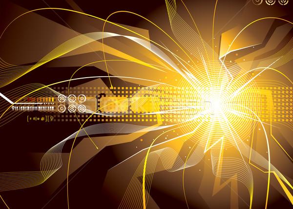 Enerji sparks teknoloji soyut dizayn bilim Stok fotoğraf © keofresh