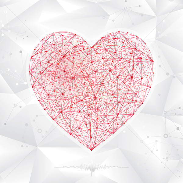 Molekularny kształt serca streszczenie medycznych serca projektu Zdjęcia stock © keofresh
