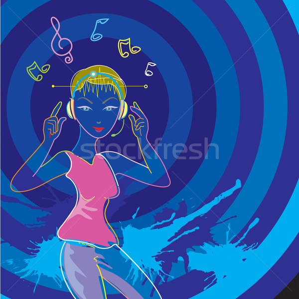Résumé musique néon lumière Photo stock © keofresh