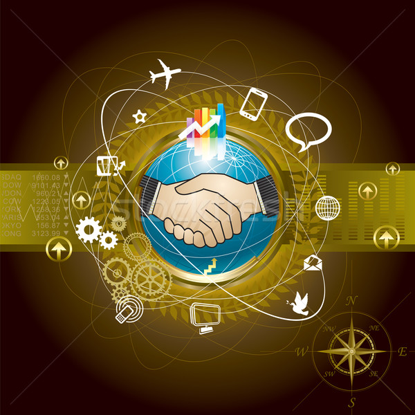Commerce mondial technologie connexion affaires monde fond Photo stock © keofresh