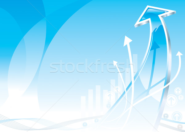 Groei pijl vector downloaden eps business Stockfoto © keofresh