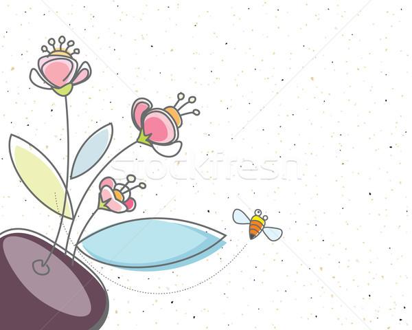 フローラル 蜂 デザイン 砂 テクスチャ 効果 ストックフォト © keofresh