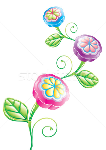 3D grappig bloem bloem vector downloaden Stockfoto © keofresh