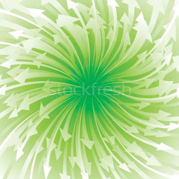 Green Arrow Flowing Stock photo © keofresh