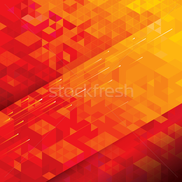 Red Geometric Background  Stock photo © keofresh