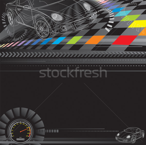 Racing auto ontwerp zwarte snelheid digitale Stockfoto © keofresh