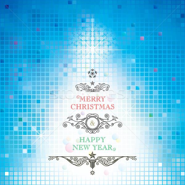 Joyeux Noël happy new year résumé design art Photo stock © keofresh