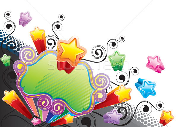 Funky star banner ontwerp vector downloaden Stockfoto © keofresh