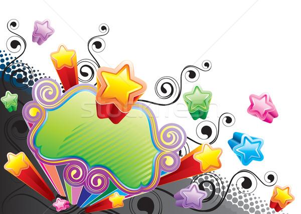 Funky star bannière design vecteur téléchargement Photo stock © keofresh