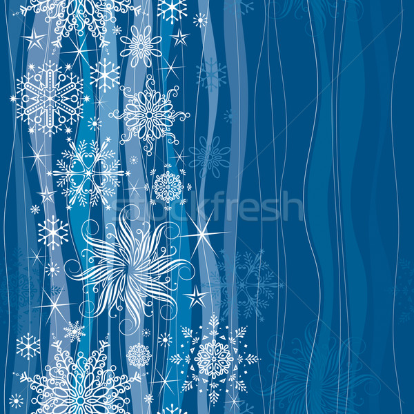 Seamless Snowflakes   Stock photo © keofresh