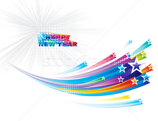 Happy new year star nouvelle année fête fond Photo stock © keofresh