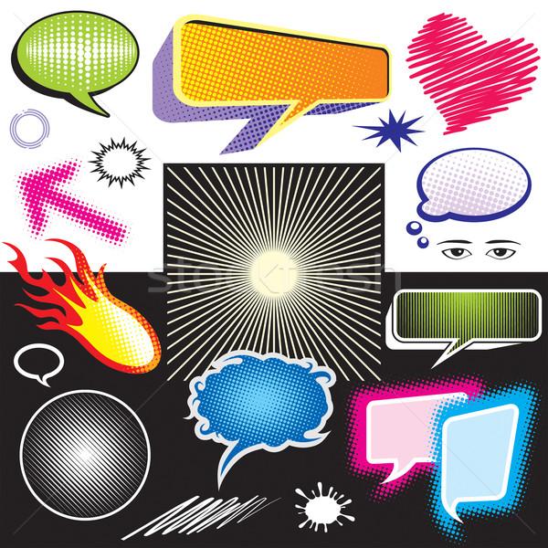 Dialog symbol graficzne projektu sztuki polu Zdjęcia stock © keofresh