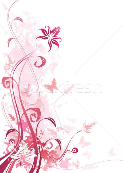 Floral grunge rose couleur effets vecteur Photo stock © keofresh