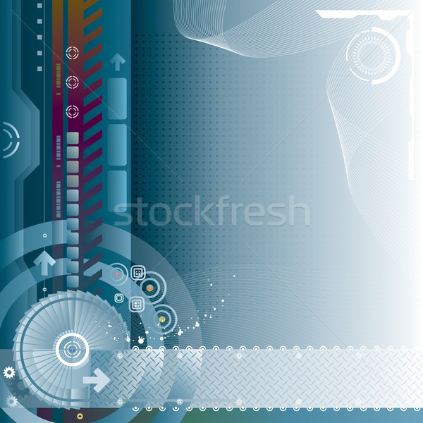 Technologie abstract internet achtergrond web Blauw Stockfoto © keofresh
