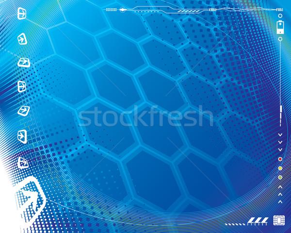 Tech bleu résumé technologie ordinateur écran Photo stock © keofresh