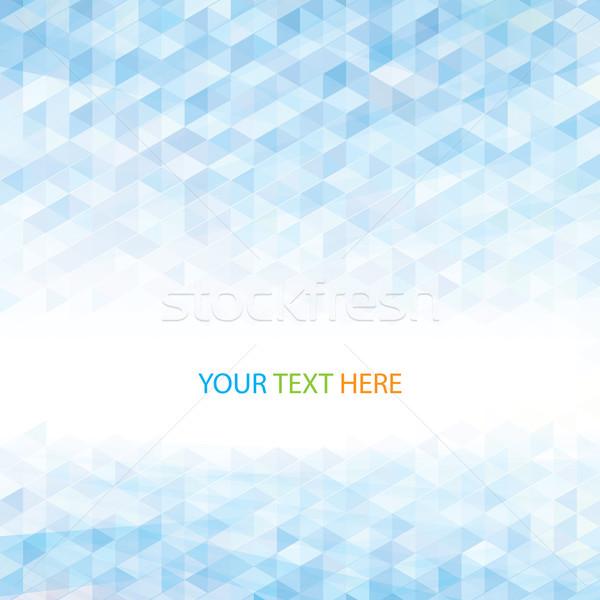 Stockfoto: Abstract · perspectief · meetkundig · lichtblauw · web · Blauw