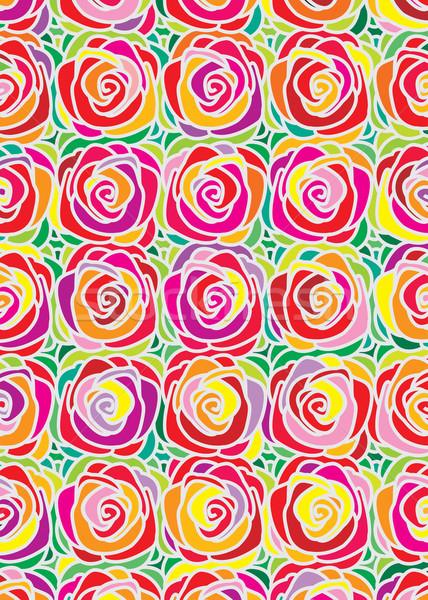Rose modèle coloré design vecteur téléchargement Photo stock © keofresh
