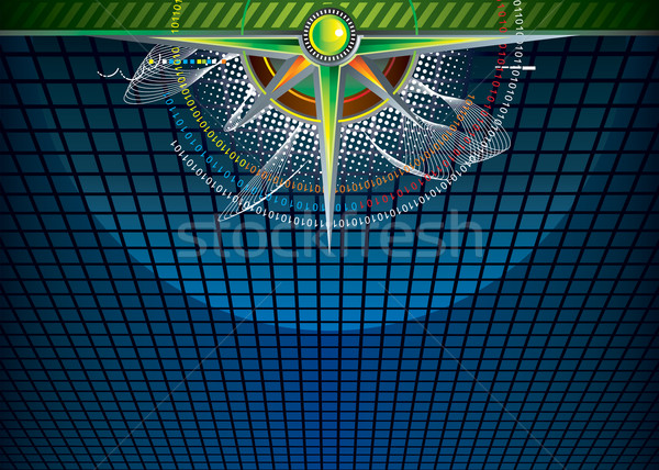 Cyberspace vector downloaden eps internet ontwerp Stockfoto © keofresh