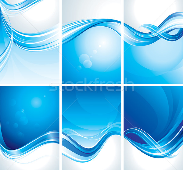 Set of Blue Background  Stock photo © keofresh