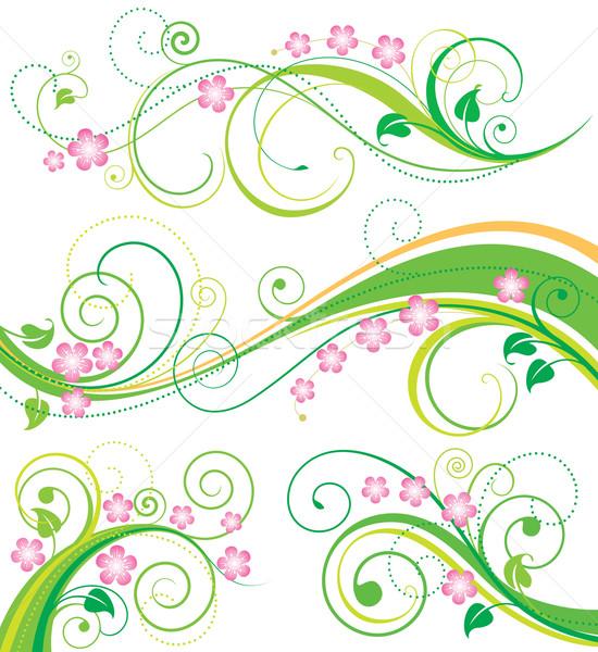 春 フローラル 装飾 セット 飾り 図面 ストックフォト © keofresh