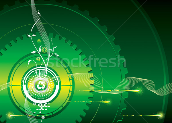Groene industriële vector downloaden eps technologie Stockfoto © keofresh