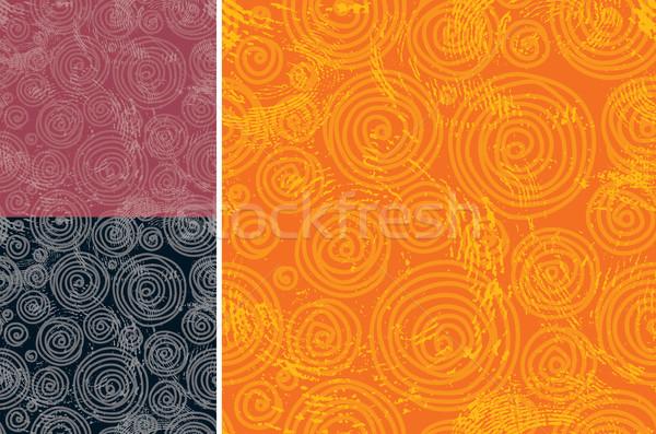 Wallpaper tous les deux côté grunge modèle Photo stock © keofresh