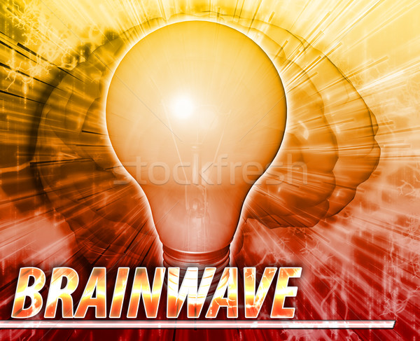Brainwave Abstract concept digital illustration Stock photo © kgtoh