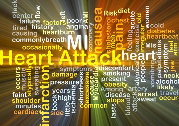 Ataque cardíaco ilustração luz fundo Foto stock © kgtoh