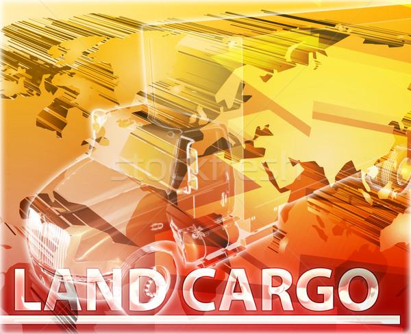 Land cargo Abstract concept digital illustration Stock photo © kgtoh