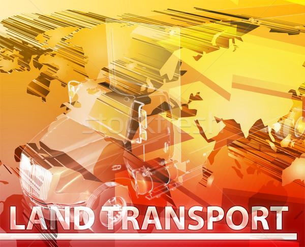 Terra transporte abstrato ilustração digital digital colagem Foto stock © kgtoh