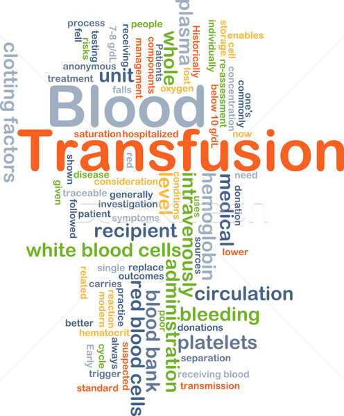 Blood transfusion background concept Stock photo © kgtoh